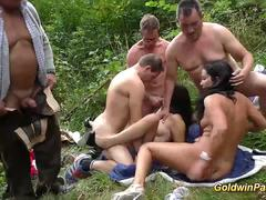 real german outdoor groupsex orgy movie