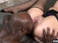 monster cock surprised a brunette babe movie