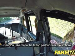 Fake Taxi Petite Kylie Nymphette pussy fucked through tights and creampie