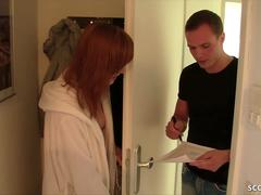 Skinny German Redhead Teen Anny Aurora Fuck the Repairman