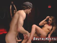 Brutal slap cry Bondage ballgags spanking sexual humiliation and domination cruel