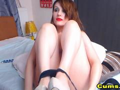 Hot Flawless Teen Fuck Her Pussy With A Pink Dildo