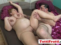 Big tits pregnant mom