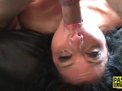 bound submissive throated bdsm