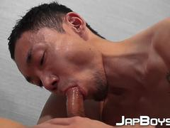 Japanese youngsters lick ass and anally hardcore fuck