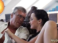 Old white man fucks ass and daddy ally partners daughter while mom sleeps What would