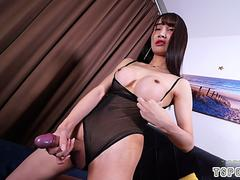 asian shemale rimjob with cumshot video movie 2