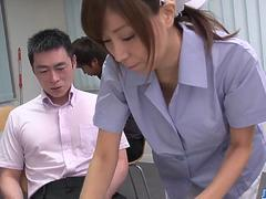 Chihiro Akino first experience with two big cocks - More at javhd.net