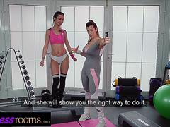Fitness Rooms Italian fitness Marica Chanelle blogger fucks nymph Freya Dee