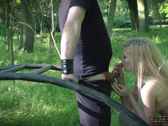 Teen gets hardcore fucked in kinky bondage fetish sex