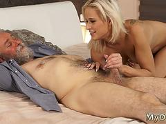 Old man cum in mouth compilation Surprise your girlboss and she will nail with your dad