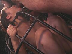 Japanese BDSM iron cage cumshot blowjob circle Subtitles