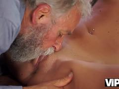 VIP4K. Old man is happy to enjoy tender body of young student Shanie Ryan