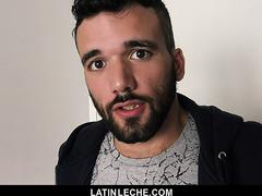 LatinLeche - Muscular Stud Sucks An Uncut Cock For A Fat Wad Of Cash