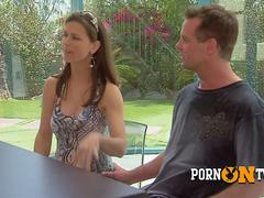 Mike is ready to flirt and have sex with a sexy swinger stranger.