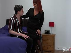 AgedLovE Hot Mature Seduces Horny Youngster