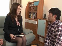 Sensational sex at work with two of her colleagues - More at Japanesemamas.com