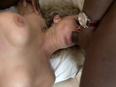 Mature fucked by two black cocks in the same time hard