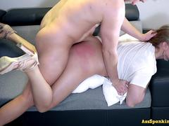 Extreme spanking,deepthroat and rough fuck punishment of naughty wife