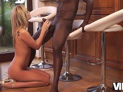 VIP4K. Impressive lady Shanie Ryan in short dress needs black dick