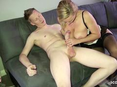 Monster Cock Step Son Seduce German MILF Mom to Fuck