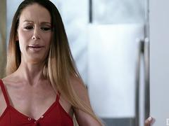 Busty StepMother Makes Her Husband's Daughter Squirt