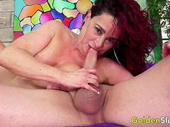 GoldenSlut - Older Ladies Show off Their Cock Sucking Skills Compilation 11