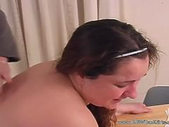 Spanking Her BBW Housewife Ass Red
