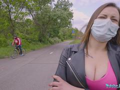 Public Agent Face Mask Fucking a sexy sweet teenager with Big Natural Boobs