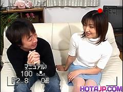 Hitomi Ikeno is stockings gets sucked cock in hairy slit doggy - More at hotajp com
