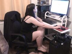 home office foot licking slave