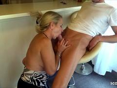 After Birthday Cheating Sex with German Mom with Huge Cock