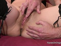 Horny and Sexy MILF Site Member Comes In For The Hands On Orgasm Experience