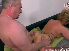 german chubby mature housewife with natural boobs