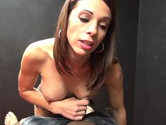Classic Femdom Milking and titjob by brown eyed sexy Mistres