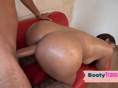 Latina booty trans gets her big butt barebacked