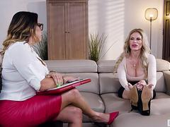 Huge titted Patient Having Sex With Lesbian Latina Psychiatrist