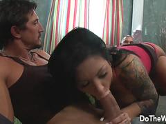Do The Wife - Dark Haired Wife Lets Hubby Watch Her Giving Head Compilation