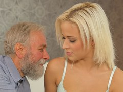 DADDY4K. Old and young sex experiment is a birthday gift for blonde
