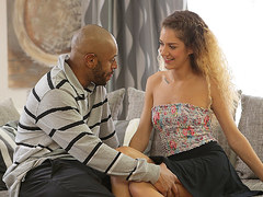 BLACK4K. Interracial sex of blonde coquette and lucky black gentleman