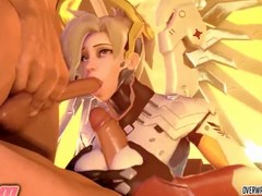 Stunning Widowmaker and Mercy sex hammering compilation