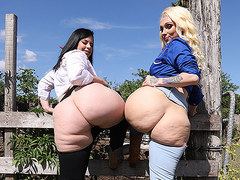 Cowgirls Virgo Peridot and Alexis Andrews Share The Priest's Big D