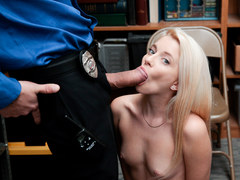 Shoplyfter - Naive Blonde Teen Takes Huge Load For Stealing