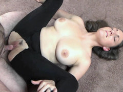 Busty MILF Melanie Hicks is getting her tight twat stuffed